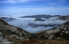 Somiedo Luna Morning fog valleys Cantabrian Mountains